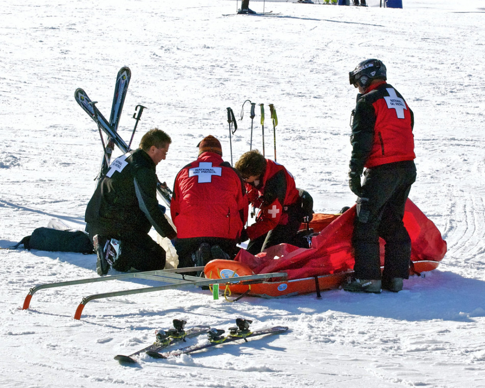 Accident au ski @Wplynn - Flickr