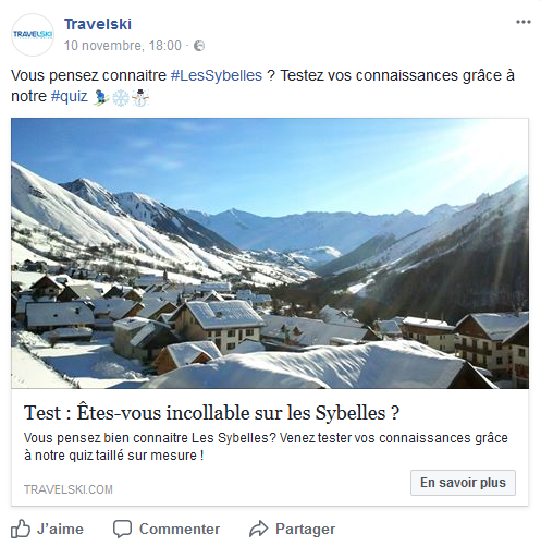 facebook travelski